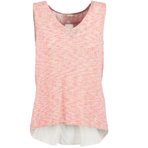 material Women Tops / Sleeveless T-shirts Les Petites Bombes NODOLA Coral