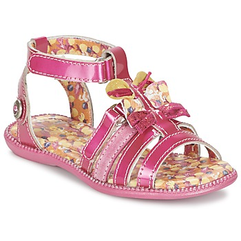 Shoes Girl Sandals Catimini CALANDRITE Fuschia / Onda