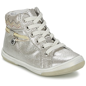 Shoes Girl High top trainers Catimini CALLUNA BEIGE / Silver