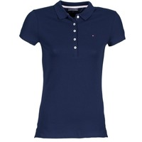 material Women short-sleeved polo shirts Tommy Hilfiger NEW CHIARA Marine