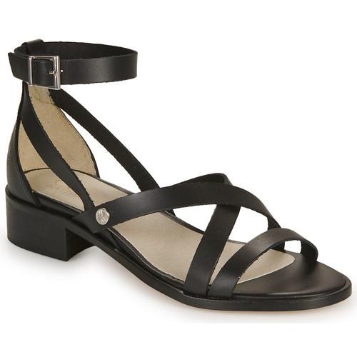 Shoes Women Sandals Casual Attitude COUTIL Black