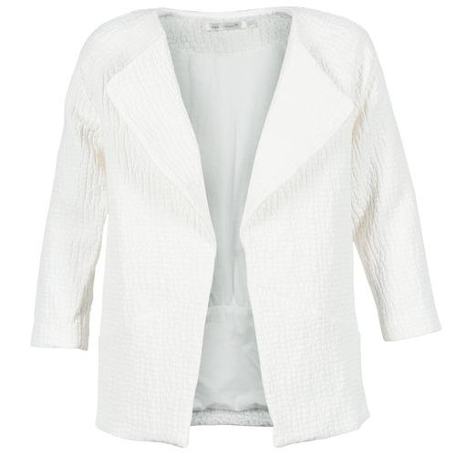 material Women coats See U Soon DACKA White