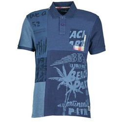 material Men short-sleeved polo shirts Desigual BELUDINE Blue