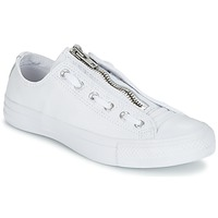 Shoes Men Low top trainers Converse CHUCK TAYLOR ALL STAR MA-1 ZIP MILITARY LEATHER OX White