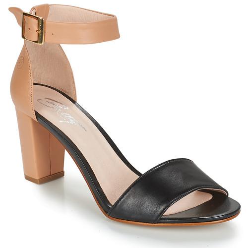 Sandals Betty London CRETA Nude / Black 350x350