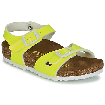 Shoes Girl Sandals Birkenstock RIO Yellow / Fluorescent