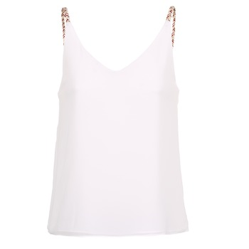 material Women Tops / Sleeveless T-shirts Betty London EVOUSA White