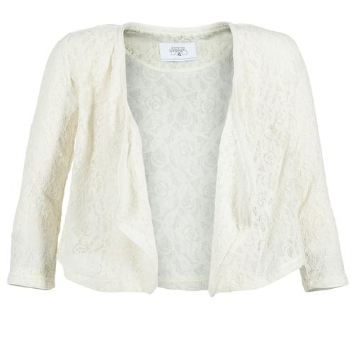 material Women Jackets / Blazers Le Temps des Cerises ILONA White