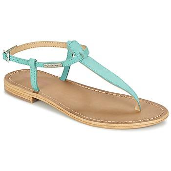 Shoes Women Sandals Les Tropéziennes par M Belarbi NARBUCK TURQUOISE