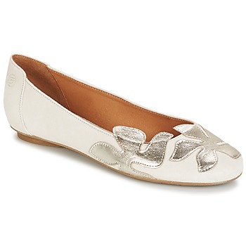 Shoes Women Ballerinas Betty London ERUNE White / Silver