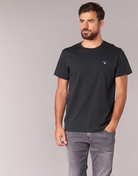 material Men short-sleeved t-shirts Gant THE ORIGINAL SOLID T-SHIRT Black