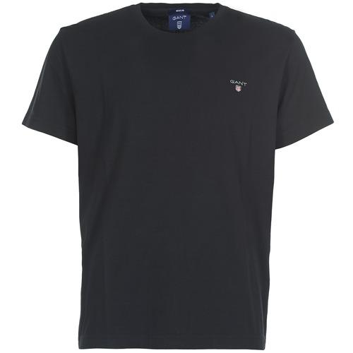 material Men short-sleeved t-shirts Gant THE ORIGINAL SOLID T-SHIRT Black