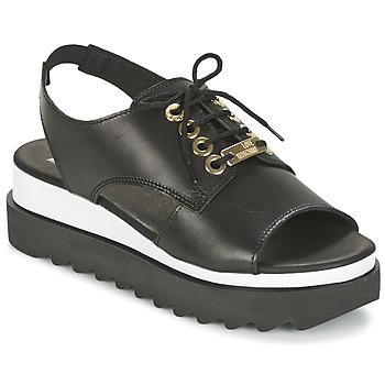 Shoes Women Sandals Love Moschino BASIC SANDAL Black / White