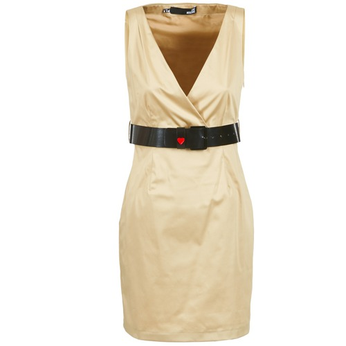 material Women Short Dresses Love Moschino ACTEE Beige