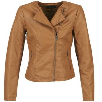 material Women Leather jackets / Imitation leather Vila VISINNA COGNAC