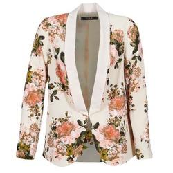 material Women Jackets / Blazers Vila VIFLOURISH BLAZER BEIGE / FLOWER
