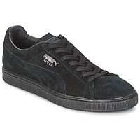 Shoes Men Low top trainers Puma SUEDE CLASSIC Black / Grey