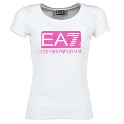 material Women short-sleeved t-shirts Emporio Armani EA7 BEAKON White