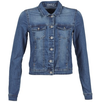 material Women Denim jackets Only NEW WESTA Blue