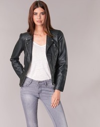 material Women Leather jackets / Imitation leather Only FREYA Black