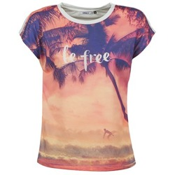 material Women short-sleeved t-shirts Only BE FREE SUMMER Multicoloured