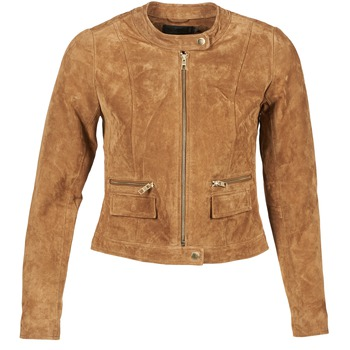 material Women Leather jackets / Imitation leather Only PAIGE COGNAC