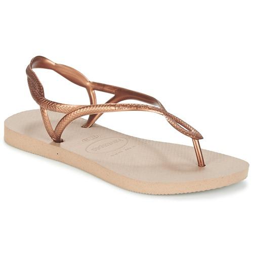 Shoes Women Flip flops Havaianas LUNA Bronze