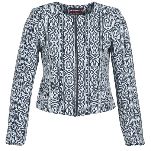 material Women Jackets / Blazers S.Oliver GUINELA Blue / White
