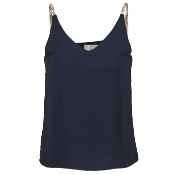 material Women Tops / Sleeveless T-shirts Betty London EVOUSA Marine