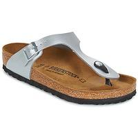 Shoes Women Flip flops Birkenstock GIZEH Silver