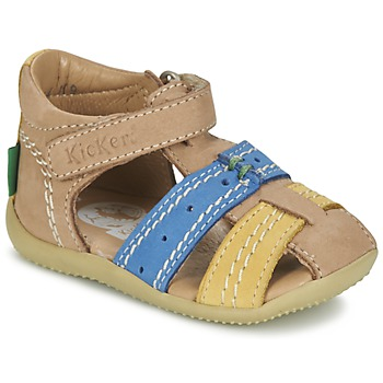 Shoes Boy Sandals Kickers BIGBAZAR Beige / Blue / Yellow
