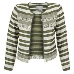 material Women Jackets / Blazers Vero Moda FRILL KAKI / ECRU