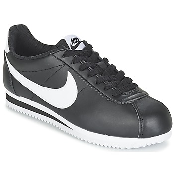 Shoes Women Low top trainers Nike CLASSIC CORTEZ LEATHER W Black / White