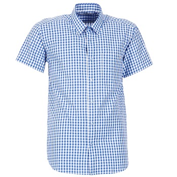 material Men short-sleeved shirts Casual Attitude ECARO Blue / White