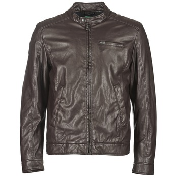 material Men Leather jackets / Imitation leather Benetton HOULO Brown