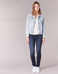 material Women slim jeans Yurban EBANE Blue / MEDIUM