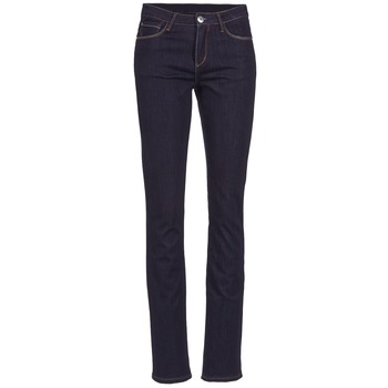 material Women straight jeans Yurban ESQUANE Blue / Dark
