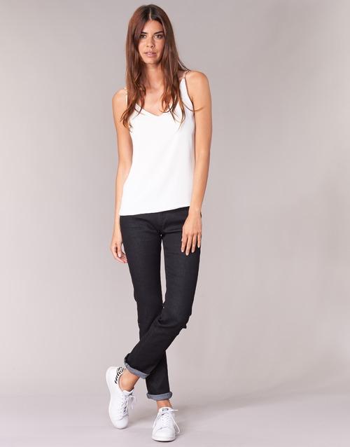 material Women straight jeans Yurban IESQUANE Black