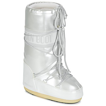 Shoes Women Snow boots Moon Boot MOON BOOT VYNIL MET White