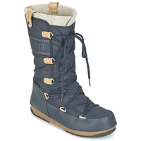 Shoes Women Snow boots Moon Boot MOON BOOT WE MONACO FELT Blue