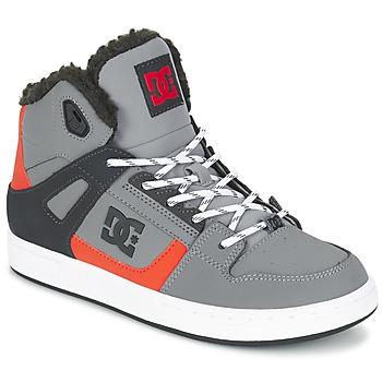 Shoes Children High top trainers DC Shoes REBOUND WNT B SHOE XSKN Grey / Black / Orange