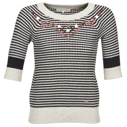 material Women jumpers Banana Moon REYNOLDS White / Black