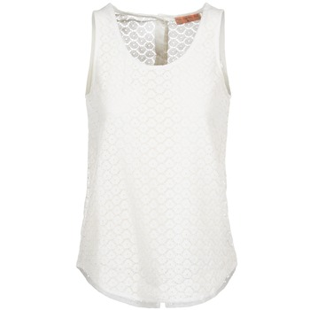 material Women Tops / Sleeveless T-shirts Moony Mood GUOHIAVINE White