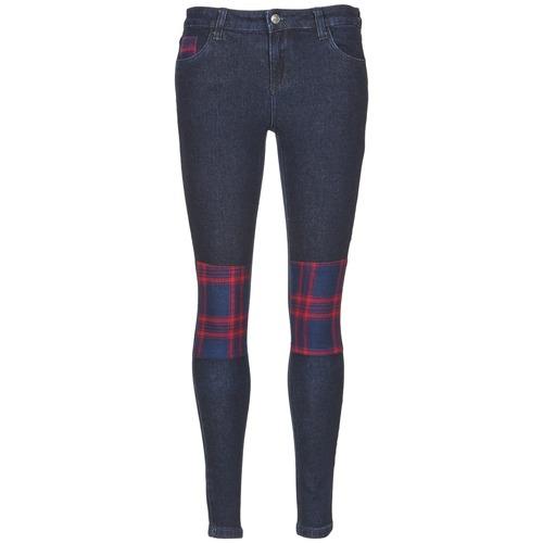 material Women slim jeans American Retro LOU Blue