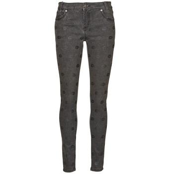 material Women slim jeans American Retro HELENA Grey