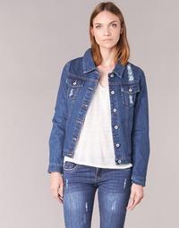 material Women Denim jackets Yurban EJINILE Blue / Dark
