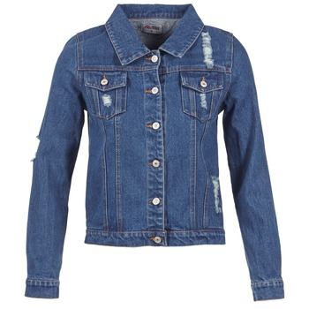 material Women Denim jackets Yurban ESPINALE Blue / Dark