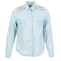 material Women Shirts Yurban EGUATOULE Blue / Clear