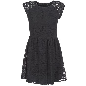 material Women Short Dresses Best Mountain VISCAL Black