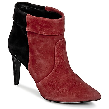 Shoes Women Ankle boots Ikks MIRANDA REVERS BORDEAUX / Black